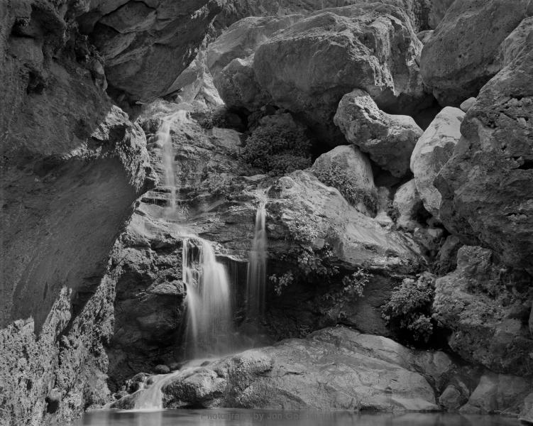 Waterfall below Elves Chasm 6_24 neg print